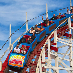 This is a picture of a roller coaster.