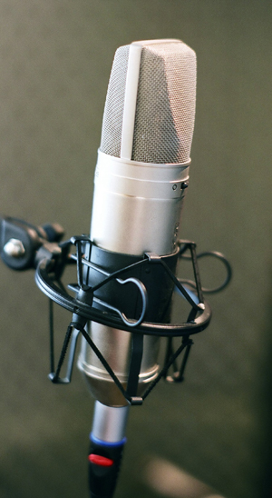 This is a picture of a fancy microphone.